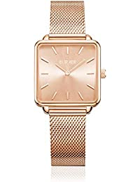 BURKER Chloe - Ladies Gold Watch | 28mm Watch for Ladies with White Dial | Ladies