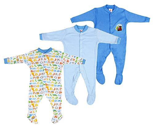 EIO Baby Boy's Cotton Long Sleeve Romper Suit (457_Multicolour_3-6 Months)