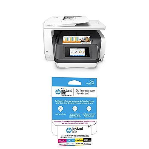 HP OfficeJet Pro 8730 Multifunktionsdrucker weiß + HP Instant Ink Karte (Tarif für 15, 50, 100 oder 300 Seiten pro Monat)