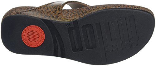 FitFlop Superjelly Leopard, Sandales  Bout ouvert femme Multicolour (Cheetah Brown)