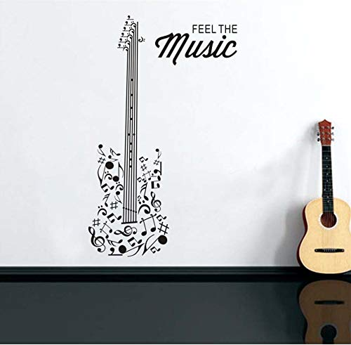 Xlei Etiqueta De La Pared Sienta La Música Guitarra
