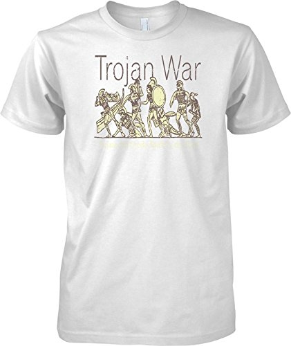 41QD4p9HXPL UK BEST BUY #1Trojan War Battle Scene   Troy   Mens T Shirt   White   Adult Mens 50 52 XXL price Reviews uk