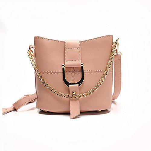 Meoaeo Crossbody Bag Catena Di Moda Sacca Della Benna Crossbody Tutti-Match Rosa Pink