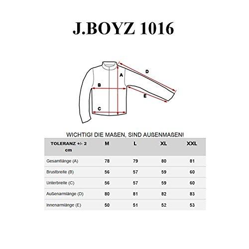 BOLF Herren Winterjacke mit Kapuze Alaska Futter J.BOYZ 1016 Dunkelblau M [4D4] - 7