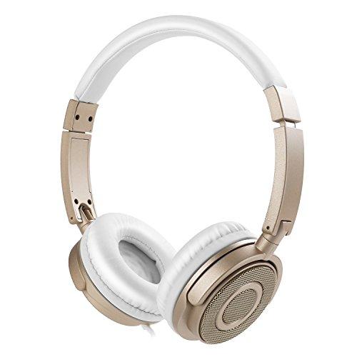 Preisvergleich Produktbild Kopfhörer auf Ohr,  VOGEK Faltbare kabelgebundene on Ear Kopfhörer mit Verbessertem Bass und Stereo Sound,  Headsets mit Lautstärkeregler Mikrofon für TV,  Handy,  Laptop and andere Geräten