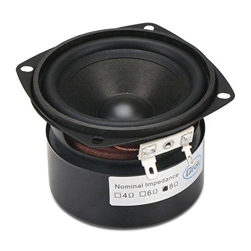 DROK® 3-Zoll-15W HIFI Full Range-Lautsprecher mit 90 dB Hohe Empfindlichkeit, 8Ω 52mm Höhe antimagnetisch Lautsprecher mit High Pitch, Quadrat Startseite Woofer Stereo-Lautsprecher geeignet für das Hören von Klassik & String Musik