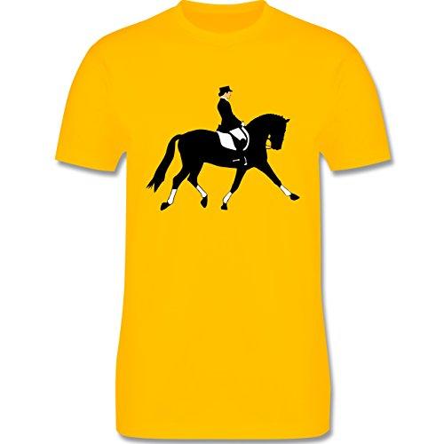 Reitsport - Dressurreiten - Herren Premium T-Shirt Gelb