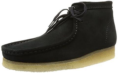 Clarks Wallabee Boot, Men's Desert Boots, Black Natural, 8.5 UK / 42.5 EU