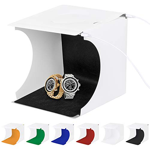 Sanlinkee Tente de Studio Photo Pliable Portable avec 2 x 20 lumières LED 6 Couleurs