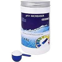 NortemBio Pool pH+ Plus 1,4 kg, Organischer pH+ Heber für Schwimmbad und Spa. Verbesserung der Wasserqualität, ph-Regulierung, Vorteilhaft für die Gesundheit. Entwickelt in Deutschland.