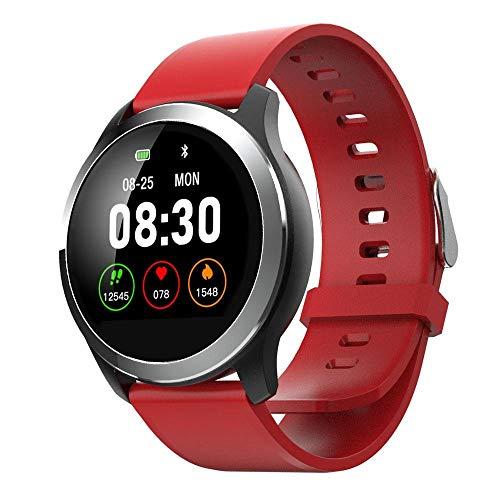 TEEPAO Herzfrequenz-Monitor, Rot/RoHS-Zertifizierung, Smart-Armband, LCD-Farbdisplay, Beste Fitness-Tracker, wasserdicht, multifunktionales Smart-Armband mit Sport-Schrittzähler, Kalorienzähler Roh Lcd-monitore