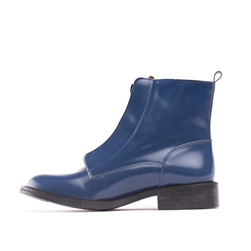 NAE Zipme Blau - Damen Vegan Stiefel - 3