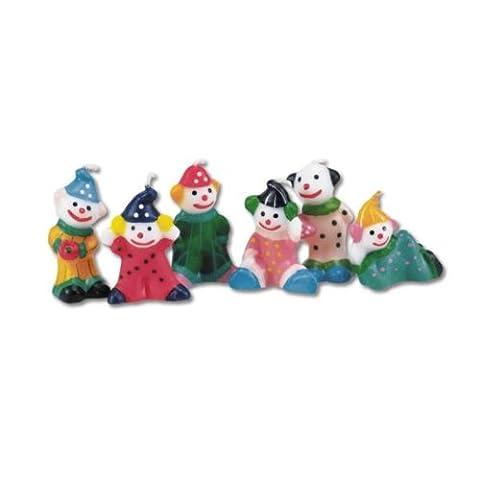 Städter Geburtagskerzen Deko-Set Clowns 6-er Set