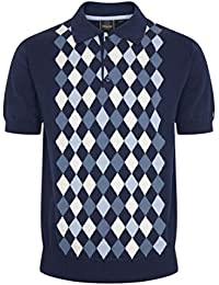 NAVY BLUE MENS MERC LONDON SCOOTER COTTON T-SHIRT STYLE WRAGBY