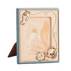 Idea Regalo - THUN® - Cornice Portafoto Medio da Tavolo Teddy Lui - Ceramica - Formato 13x15 cm