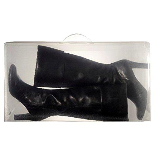 2x Unisex große Kofferraum Aufbewahrungsbox Display unter dem Bett Organizer Transparent (13 Schuhe Fusion)