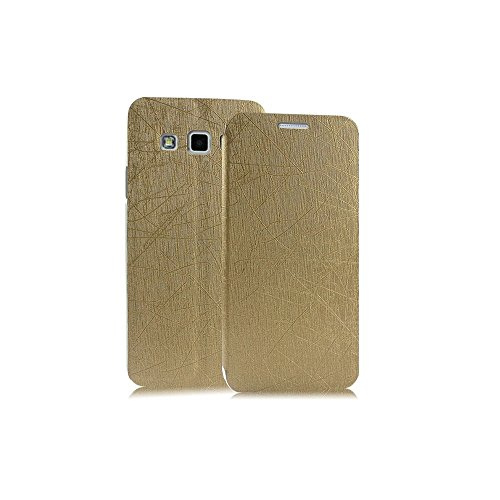 Heartly Premium Luxury PU Leather Flip Stand Back Case Cover For Samsung Galaxy A5 2015 SM-A500F – Hot Gold
