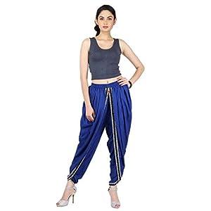 Blaue Farbe Rayon Dhoti Hose, Dhoti Salwar, Patiala Dhoti Hose für Frauen, Mädchen