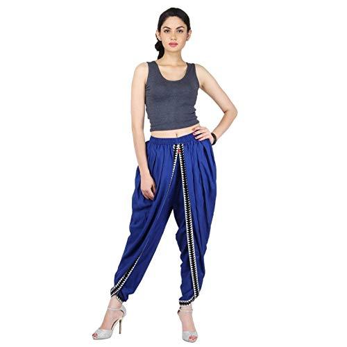 Blaue Farbe Rayon Dhoti Hose, Dhoti Salwar, Patiala Dhoti Hose für Frauen, Mädchen -