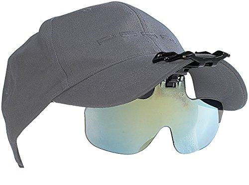 Speeron Sonnenbrillen Clip: Ansteck-Sonnenbrille für Baseball-Caps, ideal für Brillenträger (Sonnenclip)
