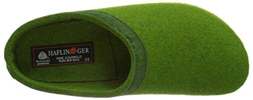 Haflinger Grizzly Leder, Pantofole basse Donna Verde (36 grasgrün)