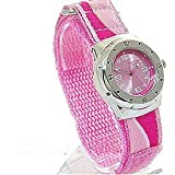 Girls/Teenagers Pink Terrain Boardrider Sports Surf Watch-Velcro Strap+Rotating Bezel-50m Water Resitant-1416