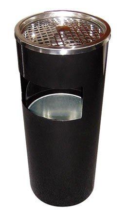 Standaschenbecher - Standascher mit Mülleimer Schwarz