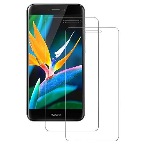 DOSNTO Protector de Pantalla Compatible con Huawei P8 Lite 2017 Cristal Templado, Vidrio Templado Transparente Compatible with Huawei P8 Lite, [2 Pack] Screen Protector [Borde 2,5D][Anti-Arañazos]