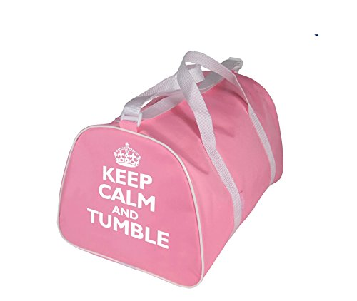 KEEP CALM E A TAMBURO o BACKFLIP Portatutto Borsa per Danza per Ginnastica o Streetdance - Rosa - Keep Calm e A tamburo
