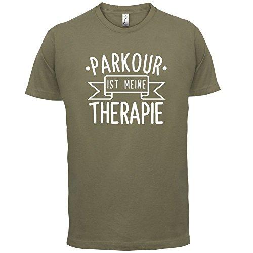 Parkour ist meine Therapie - Herren T-Shirt - 13 Farben Khaki
