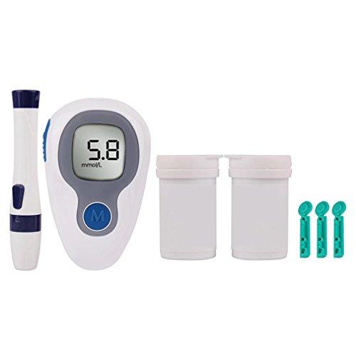 Linda N. Taylor Blutzuckermessgerät, mit 50 Teststreifen, Hausmobil Glucometer,Blutzuckermessgerät Set für Diabetiker zu Messung des Glukosespiegels
