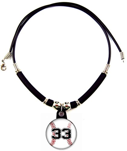(Personalisierte Baseball Halskette mit Nummer)