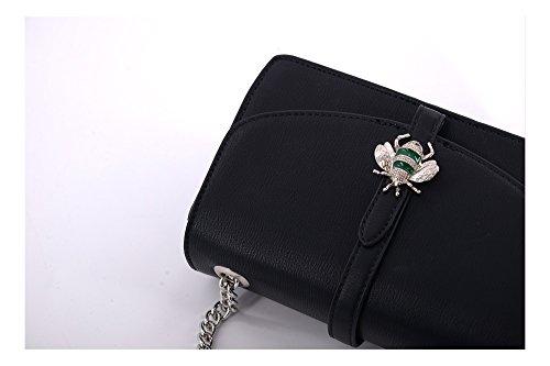Abbino P-CM3783 DUDLIN Umhängetasche für Frauen Damen - 1 Farbe - Pan Party Vintage Elegant Trend Schick Junge Schöner Angebote Sales Damentasche Schulterhandtasche Abendtasche für - Schwarz