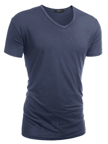 hemoon-mens-casual-premium-plain-tops-classy-short-sleeves-tir-blend-v-neck-t-shirt-navy-blue-medium