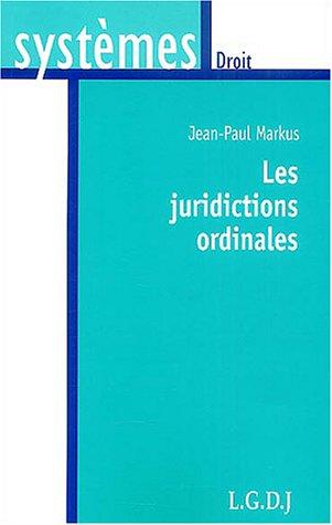 Les juridictions ordinaires