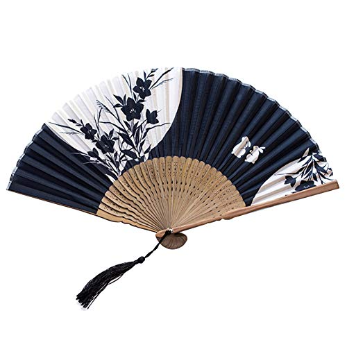 Milopon Fächer Handfächer Faltfächer Japanische Chinesische Fächer für Hochzeit Dekoration Geschenk Tanzabend Party Kostüm Maske Karnevals (G)