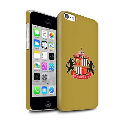 Officiel Sunderland AFC Coque / Clipser Brillant Etui pour Apple iPhone 7 Plus / Blanc Design / SAFC Crête Club Football Collection Or