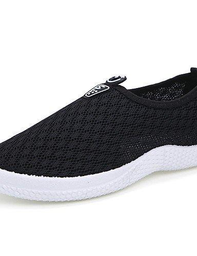 ShangYi gyht Scarpe Donna-Sneakers alla moda / Mocassini-Tempo libero / Casual / Sportivo-Comoda / Moccasino-Piatto-Tulle-Nero / Blu / Rosa / Grigio gray