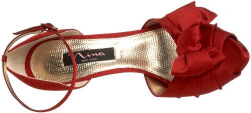 Nina Bridal  Electra Fushsia Special Occasion Neob ELECTRA01, Sandales femme Rouge-TR-I2-22