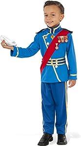 Rubies - Disfraz de Principe Real para niño, azul, Talla 3-4 años (Rubies 630964-S)