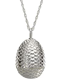 Game of Thrones Dragon Egg Pendant, Sterling Silver