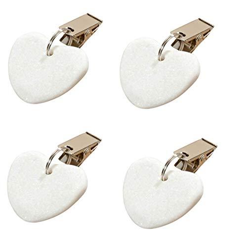 LB H&F Set 4 x Tischtuchgewicht Tischdeckengewichte weiß