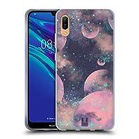 Head Case Designs Purple Haze Glitter Pastel Planets Print Soft Gel Case Compatible for Huawei Y6 Pro (2019)