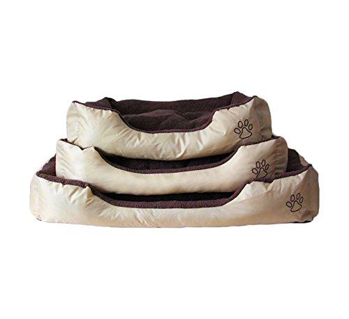 Bild: TamiaLiving Hundebett Katzenbett Hundekorb Hundekissen Haustier Hundedecke Beideseitig waschbar abnehmenbar AD01 80X60X20cm