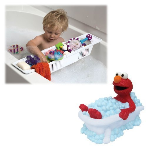 sesame-street-elmo-faucet-cover-with-bath-storage-basket-for-baby-bath-accessories-by-sesame-street