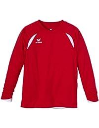 erima Trikot Tanaro langarm - Camiseta de equipación de fútbol para niño, color rojo / blanco, talla 12 años (152 cm)