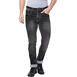 Spykar Mens Slim Fit Cotton Casual Trousers (MTR031 CDF02AF_Black_30W x 33L)