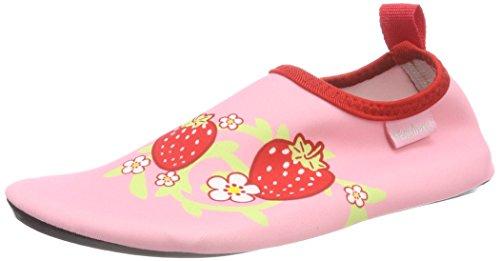 Playshoes Unisex-Kinder Badeslipper, Badeschuhe Erdbeere Aqua Schuhe Pink (rosa), 24/25 EU