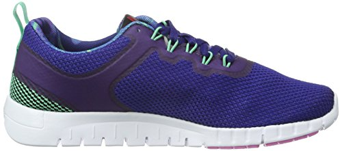 Reebok Zquick Lite WS, Chaussures de Running Entrainement Femme Multicolore - Azul / Verde / Rosa (Night Beacon / Exotic Teal / White / Icono Pin)