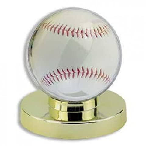 Baseball Display Case Holder - Gold Base by Max Protect
